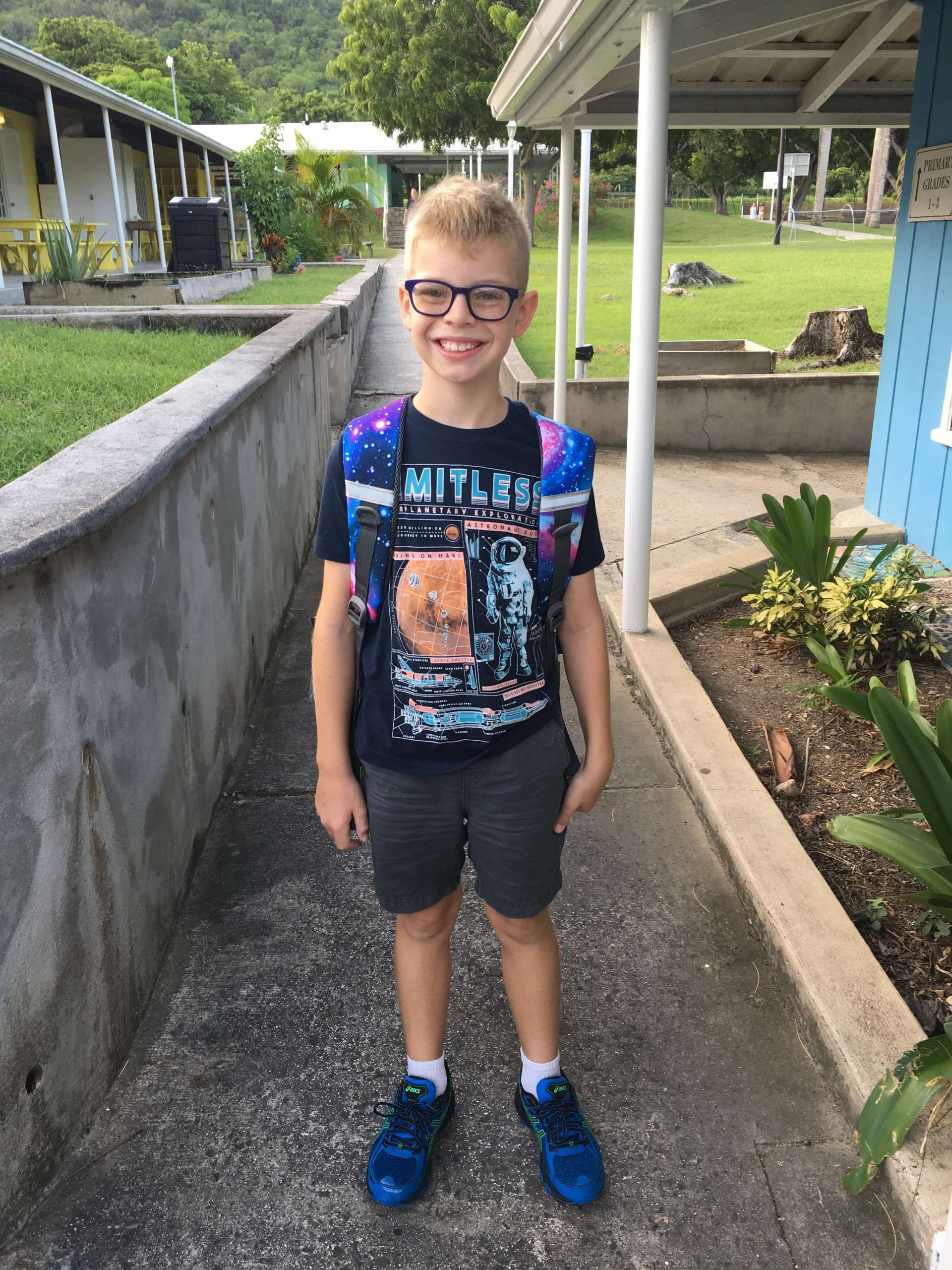 Gabe enters 4th Grade