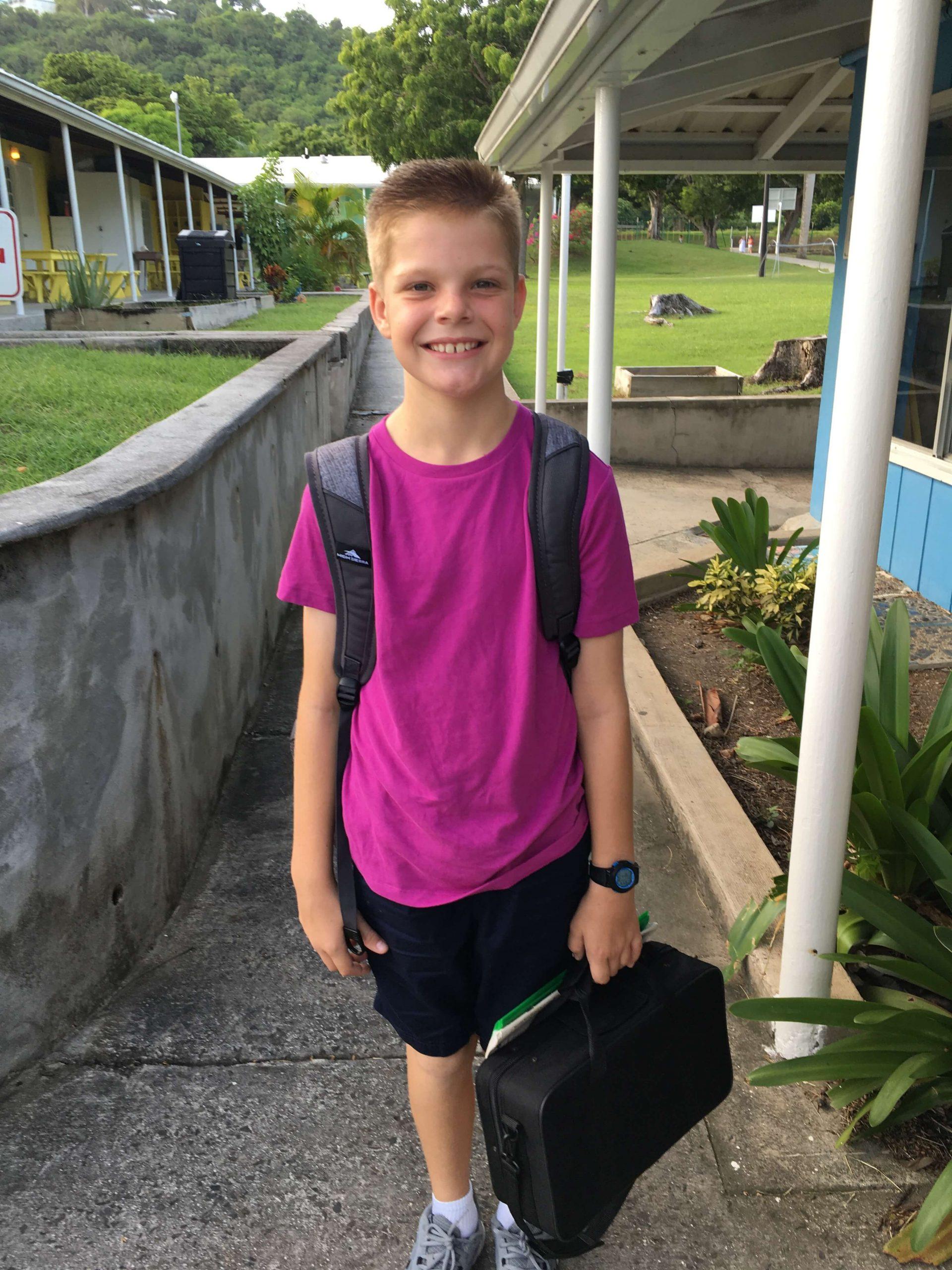 Miles enters 6th Grade