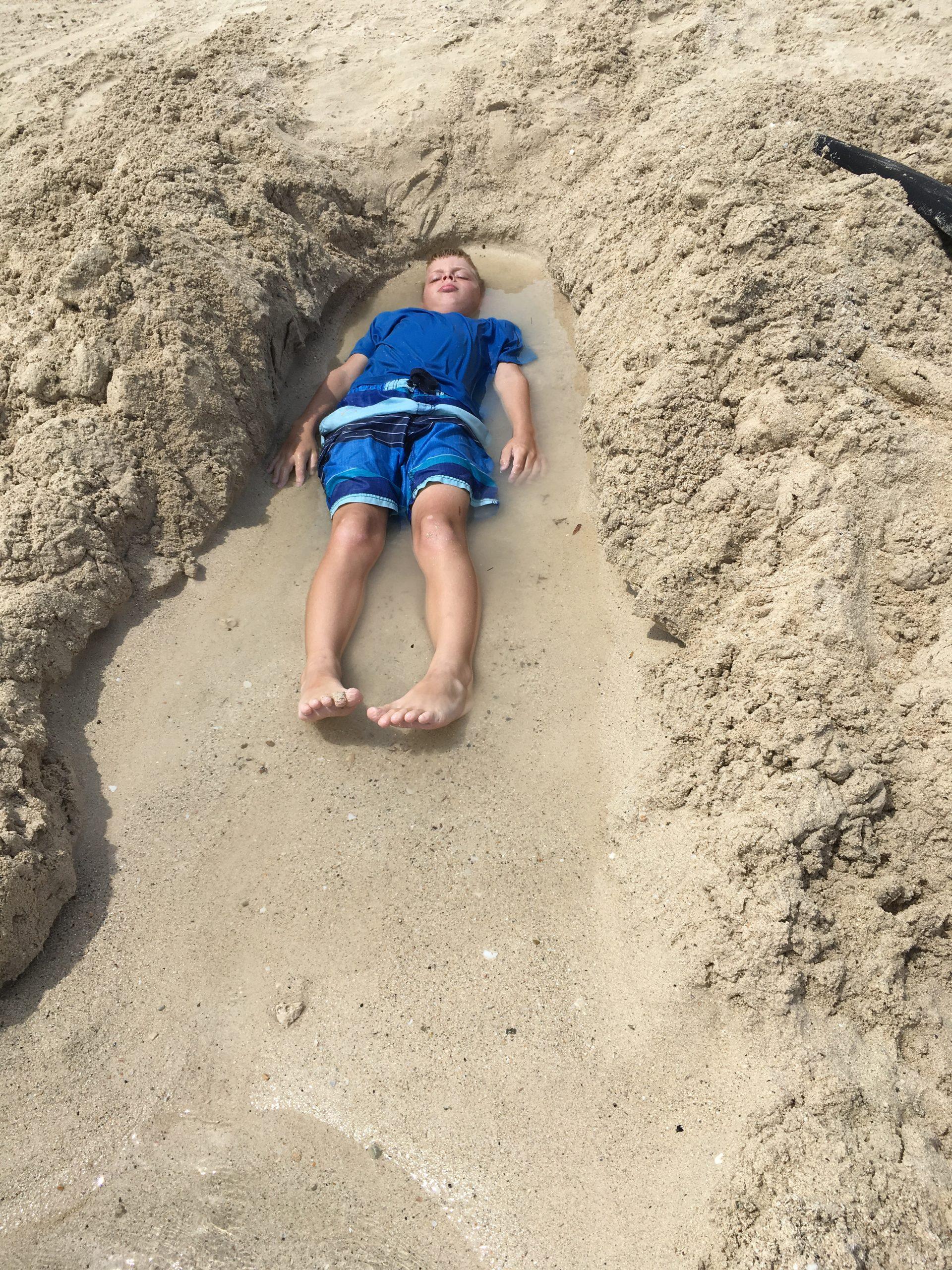Gabe in Sand