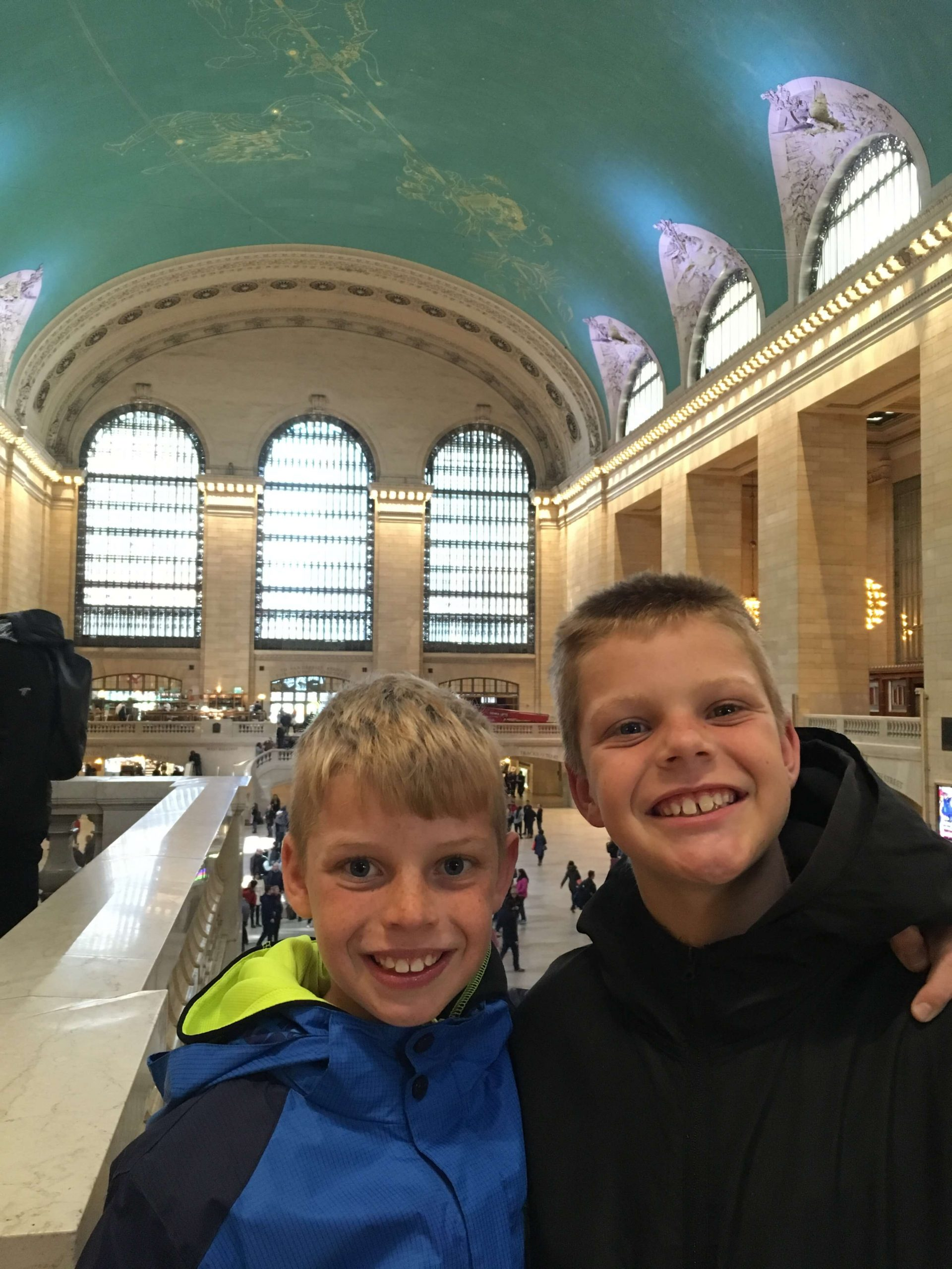 Boys in Grand Central Terminal NYC