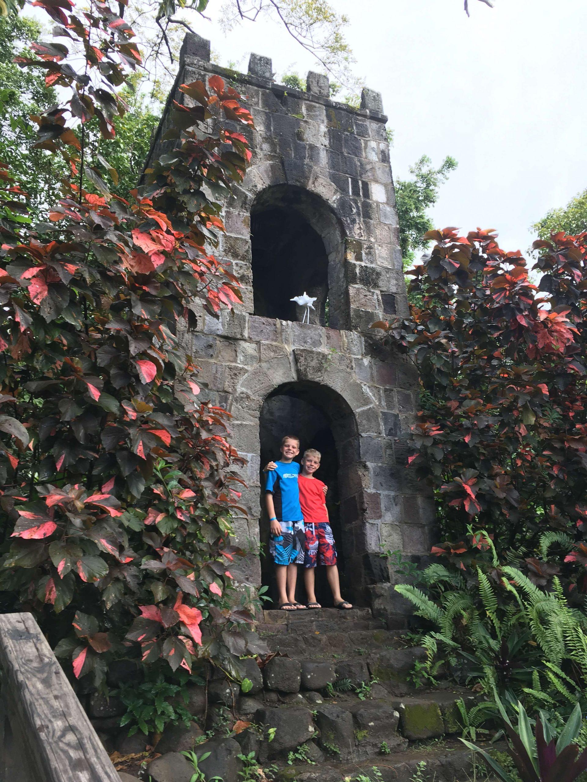 Boys in St. Kitts Ruins