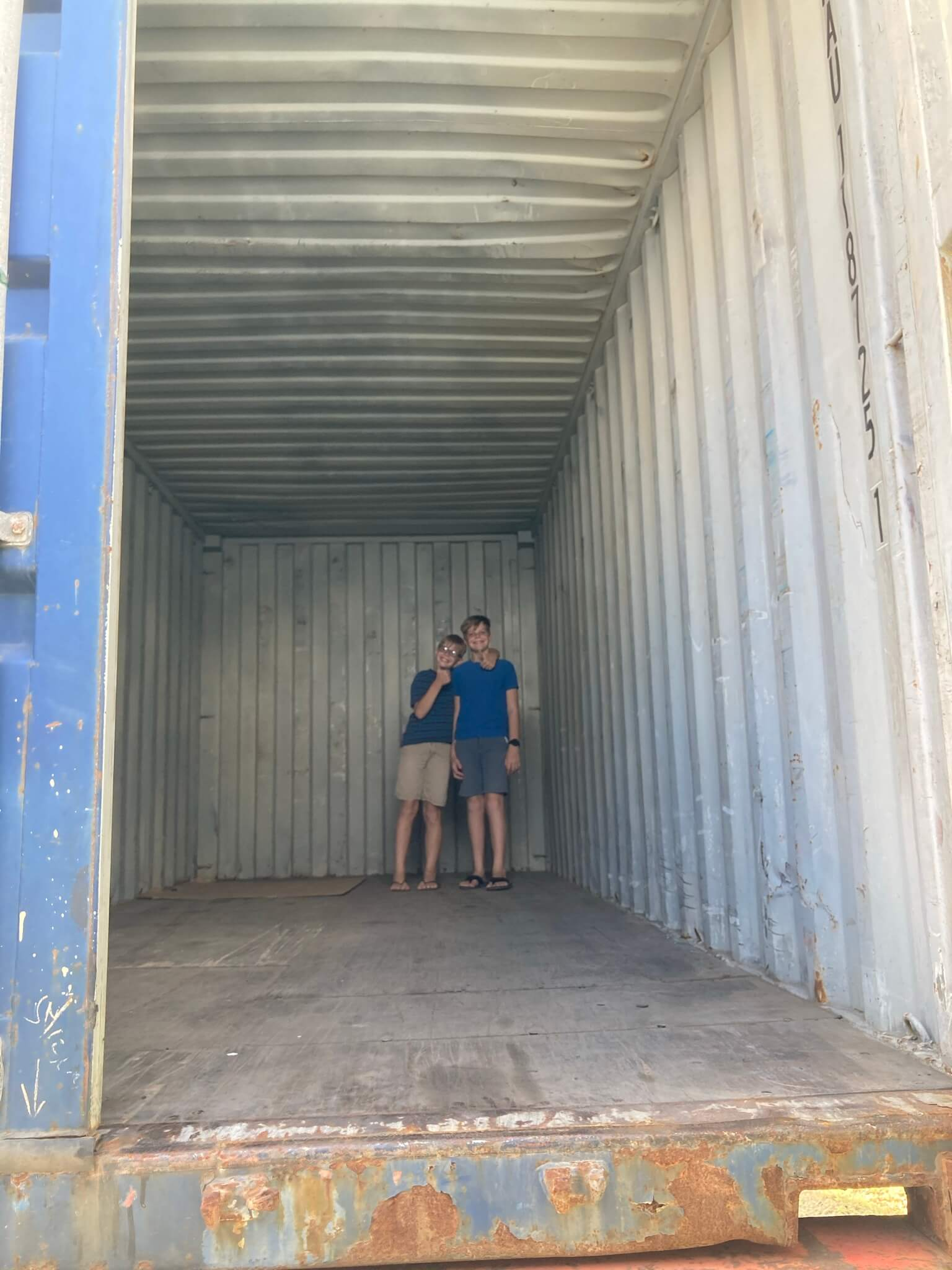Boys in the Empty Container